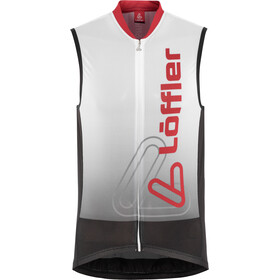Löffler Racing Bike Tanktop Full-Zip Herr white/red